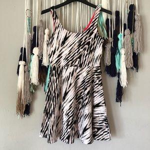 Express - Animal Print Sleeveless Sun Summer Dress